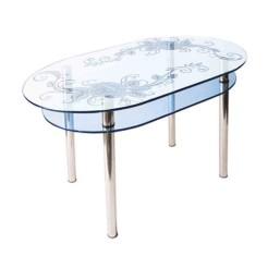 Стол из стекла КС-6 пескоструй