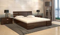 Кровать Дали Плюс сосна темный орех