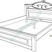 Кровать Вера с ковкой схема