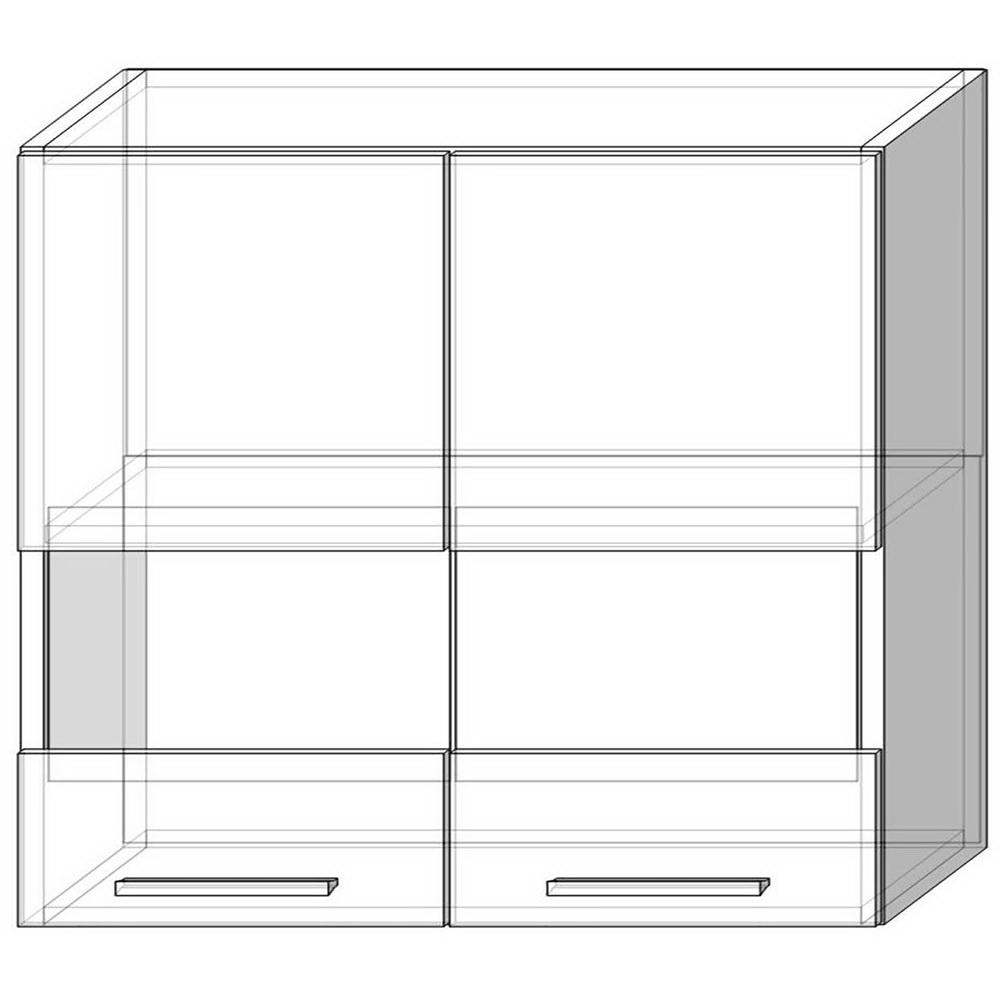 Навесной шкаф-витрина 80 см