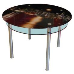 Стол из стекла КС-3 фотопечать