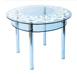 Стол из стекла КС-3 пескоструй 11