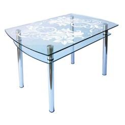 Стол из стекла КС-4 пескоструй 27