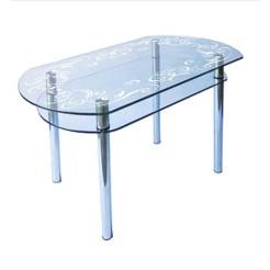 Стол из стекла КС-5 пескоструй 50