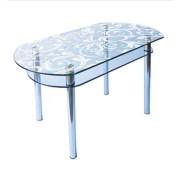 Стол из стекла КС-5 пескоструй 52