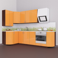 Кухня угловая Колор-микс набор №83