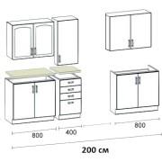 Кухня Корона — пенал 2000_1