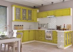 Кухня София Классика шпон патина - Лимон