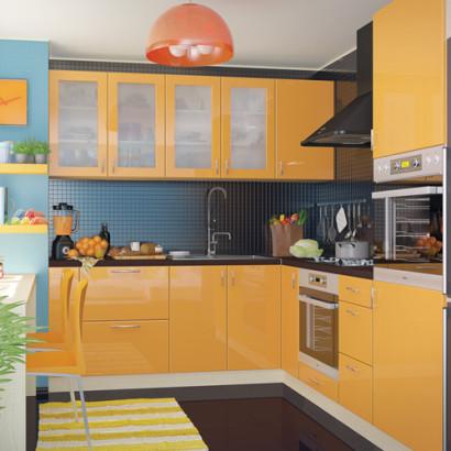Кухня угловая Колор-микс набор №84