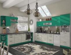 Модульная кухня Шарлотта дуб крафт белый+абсент