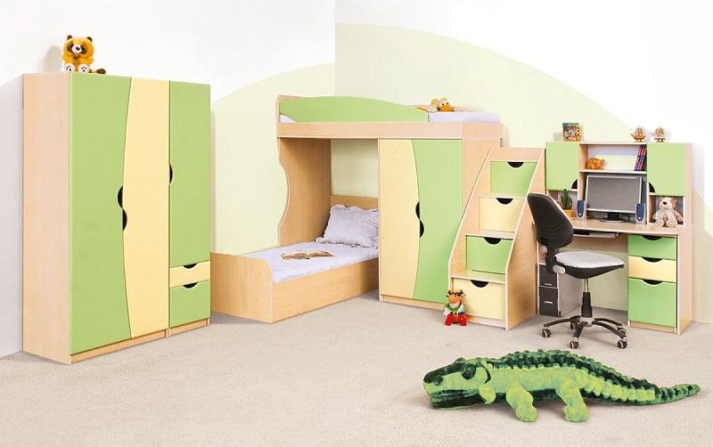 Кровать-чердак, детская Савана
