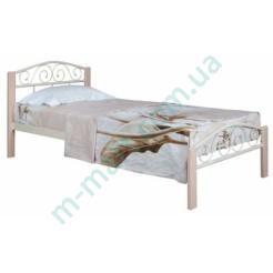 Металлическая кровать Элис Люкс Вуд односпальная