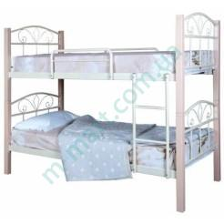 Двухъярусная металлическая кровать Лара Люкс Вуд