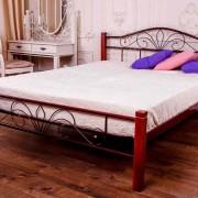 Металлическая кровать Лара Люкс Вуд двуспальная