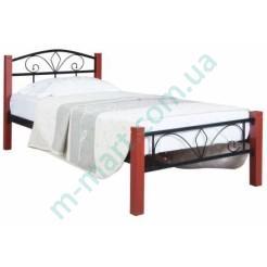 Металлическая кровать Лара Люкс Вуд односпальная