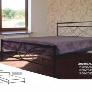 Металлическая кровать Верона Люкс двуспальная