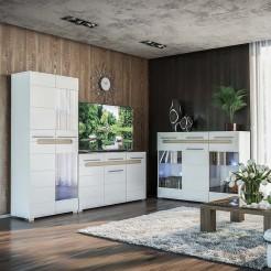 Модульная гостиная Бианко-1