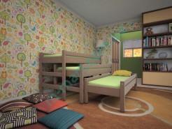 Кровать Тис Трехместная 3в1