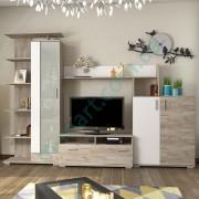 Гостиная Поло — Дуб крафт серый+Белый