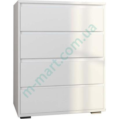 Комод Лайн 4Ш - Белый