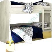 Кровать двухъярусная — Модульная детская Домино