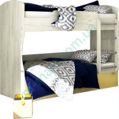 Кровать двухъярусная - Модульная детская Домино