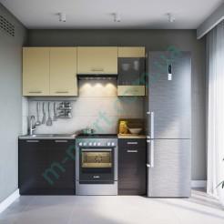 Кухня Марта Світ Меблів 1,8 - Темный венге+Крем