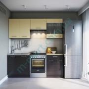 Кухня Марта 2,0 — Темный венге+Крем