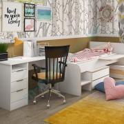Модульная детская комната Симпл — стол Студент, кровать Бен