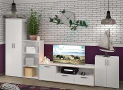 Модульная гостиная Симпл - тумба ТВ Ларс, стеллажи Джек