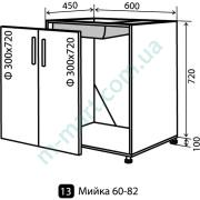 Кухня Мода Низ-13 (600-820) мойка