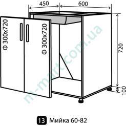 Кухня Максима Низ-13 (600-820) мойка