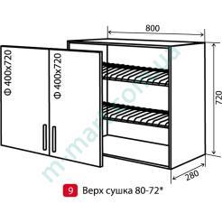 Кухня Максима Шкаф верхний-9 (800-720) сушка