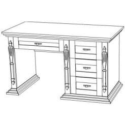 Письменный деревянный стол Неаполь-3