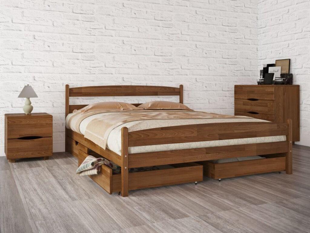купить кровать из дерева