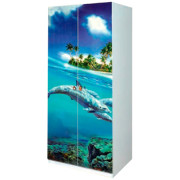 Детская Мульти — Шкаф 2Д Дельфины