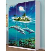 Детская Мульти — Шкаф 3Д Дельфины
