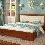 Кровать Регина Люкс с подъемным механизмом бук яблоня