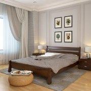 Кровать Венеция сосна темный орех