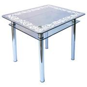 Стол из стекла КС-1 пескоструй