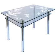 Стол из стекла КС-1 пескоструй 38