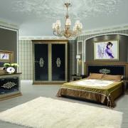 Спальня София Люкс черная