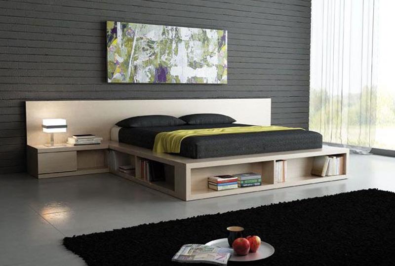 Кровать-подиум, спальня