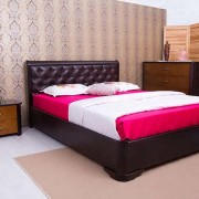 Кровать с мягкой спинкой Милена