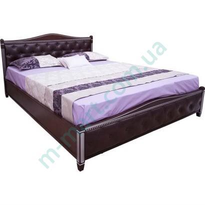 Кровать с мягкой спинкой Прованс (ромбы)