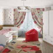Модульная детская комната Симпл — кровать Бен, шкаф Мика