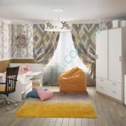 Модульная детская комната Симпл — стол Студент, кровать Бен, шкаф Мика, комод Ларс