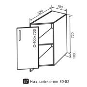 Модульная кухня Грация нижние секции