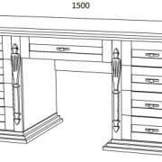 Двухтумбовый стол из дерева  Неаполь-4