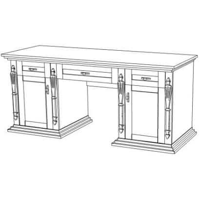 Деревянный дамский стол Неаполь-5